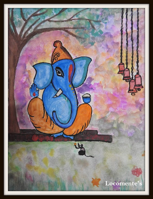Ganesha - Watercolor