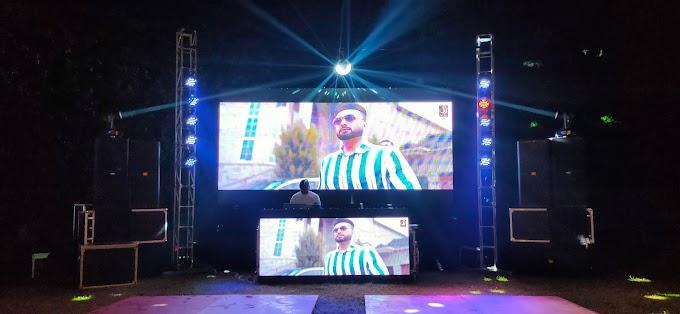 Dj System at Garden Court night show 2 sharp light & Led Wall