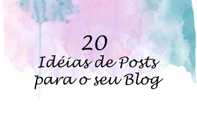 ideias para posts