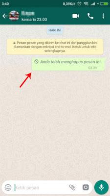 Cara Menarik Pesan yang Salah Kirim di WhatsApp