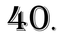 vierzigste