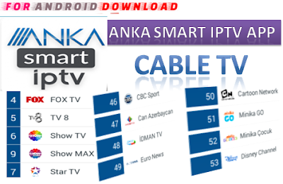 Download Android Free Anka Smart IPTV Apk -Watch Free Live Cable Tv Channel-Android Update LiveTV Apk  Android APK Premium Cable Tv,Sports Channel,Movies Channel On Android