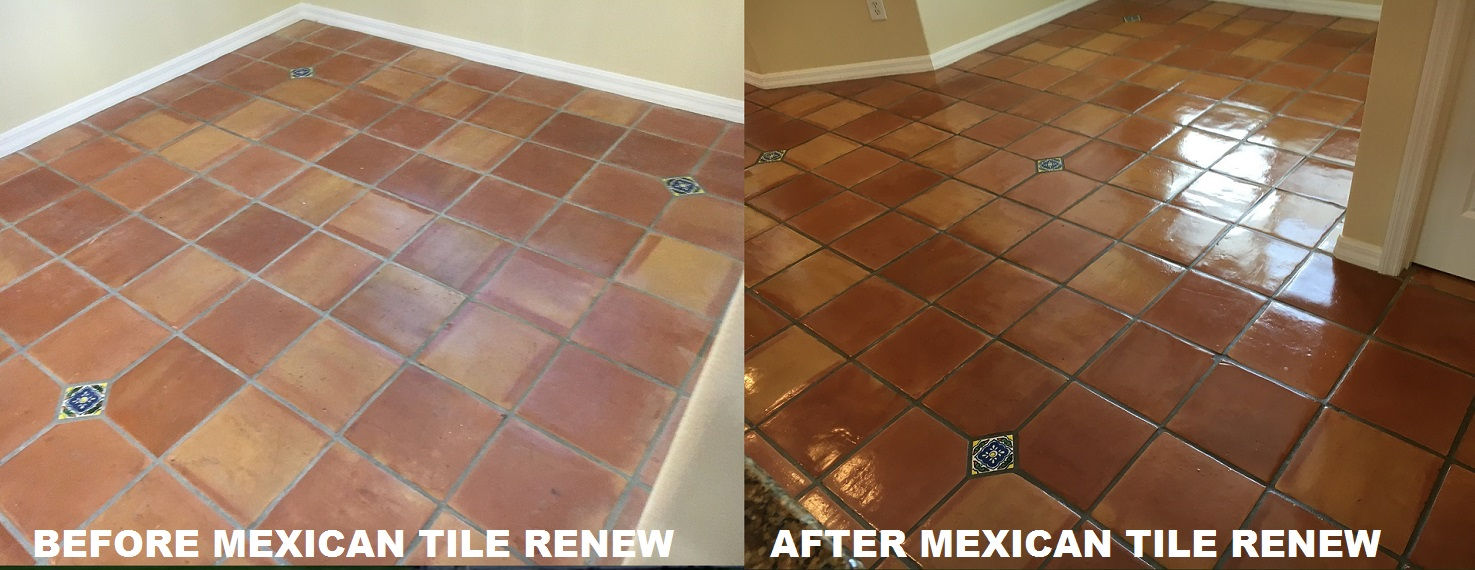 Mexican tile renew sarasota fl cleaning sealing mexican tile renew project at upscale home on the water siesta key fl never us vinegar or harsh chemicals to clean your mexican tile floor these cleaners doublecrazyfo Gallery