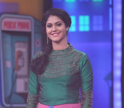 Prathibha Sai -Anchor of Sakalakalavallabhan-wonder kids show on Asianet