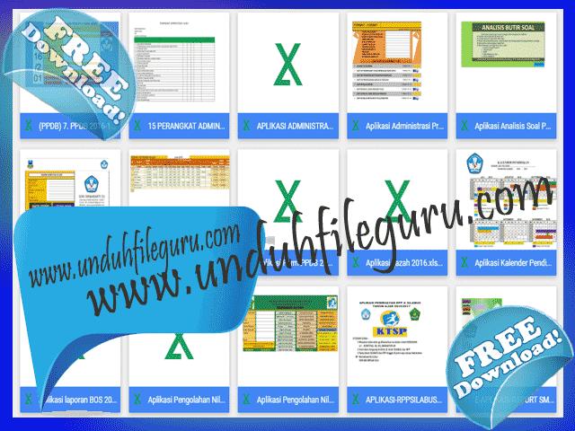 14 File Aplikasi Administrasi Guru Format Excel