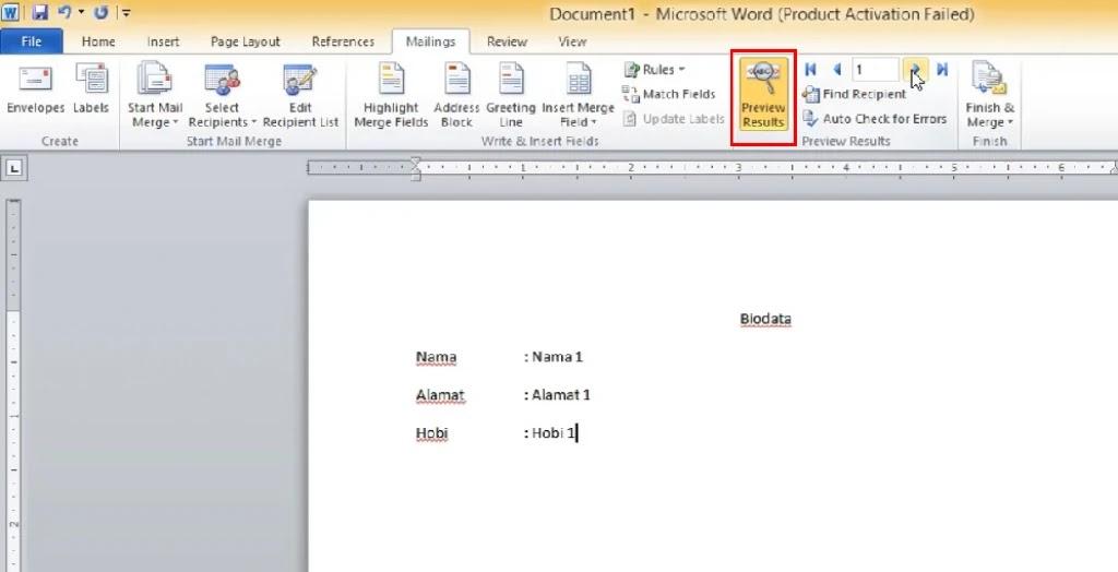 Cara Menggunakan Mail Merge Microsoft Word