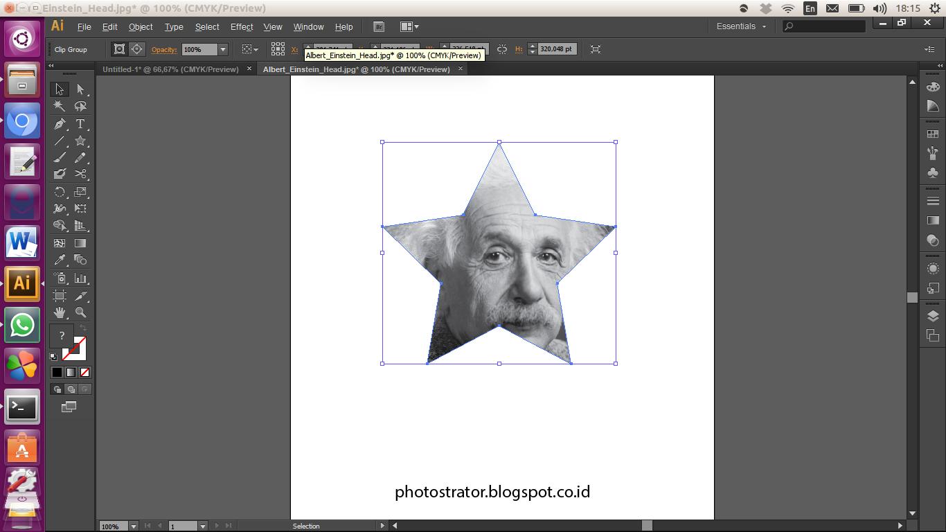 Photostrator Adobe Illustrator Memotong Gambar Dengan Clipping Mask