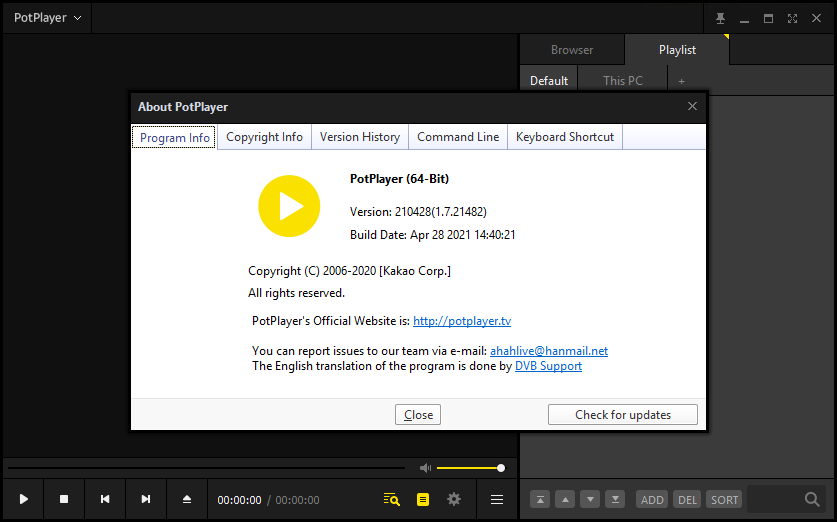 PotPlayer 1.7.21482 (210428)