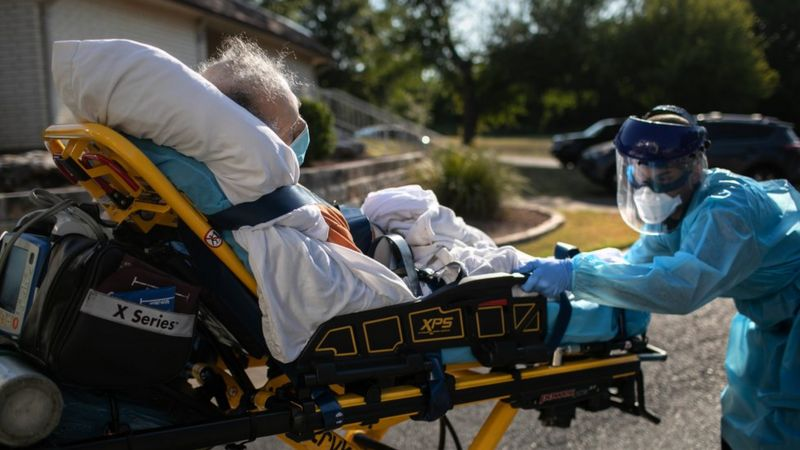 United States hits record Covid cases and hospitalisations with fears they will not slow in the run-up to Christmas