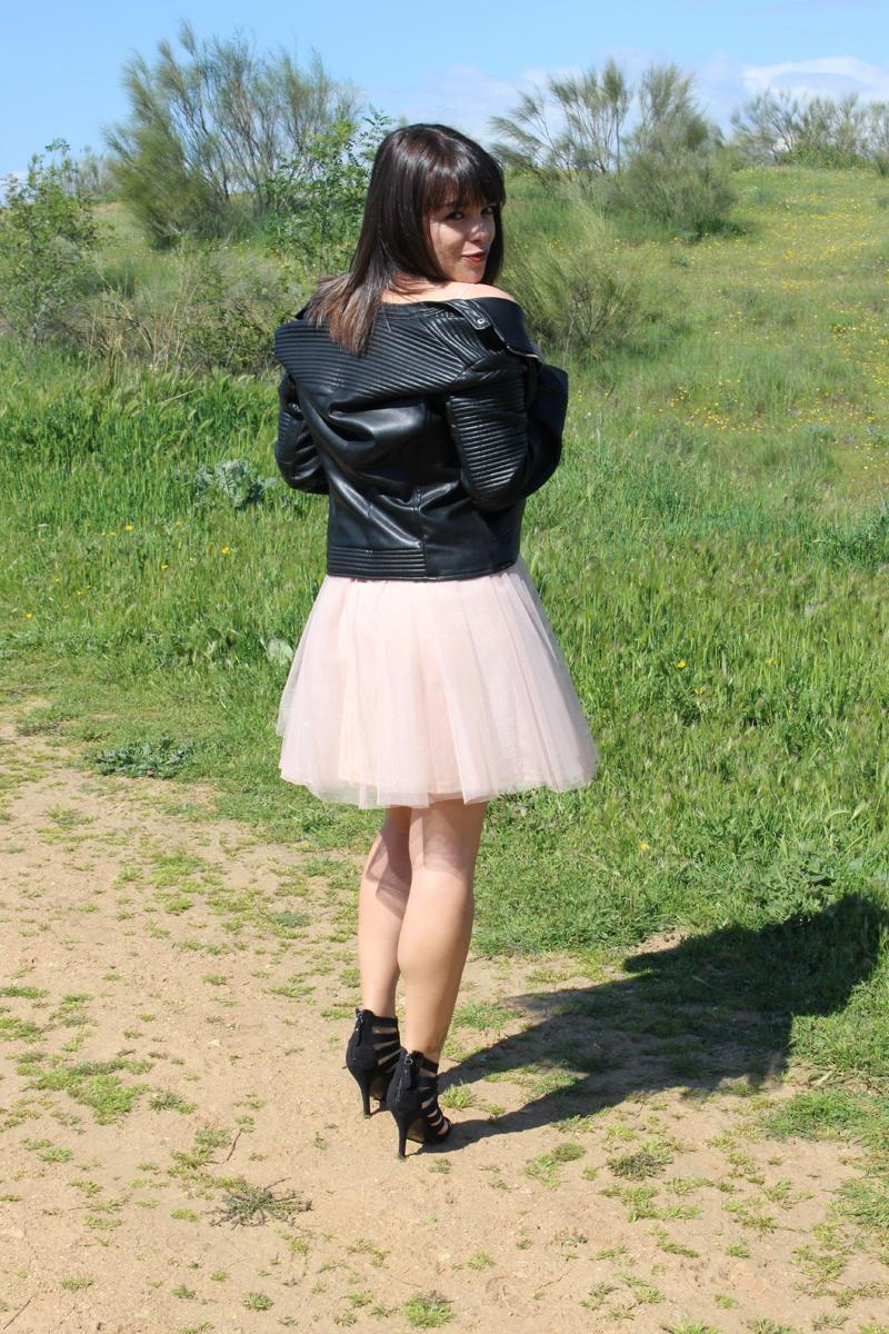 Vestido de tul con lentejuelas