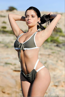 Demi Rose in Bikini Photoshoot on the Beach in Ibiza