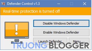 Cam – Windows defender không thể được bắt đầu