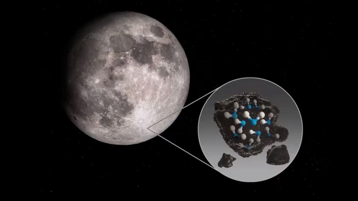 NASA agua en la Luna
