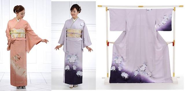 tsukisage kimono