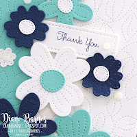Handmade thank you card using Stampin Up Pierced Blooms, Tailor Made Tags, & Stitched Greenery dies. Card by Di Barnes, Independent Stampin' Up! Demonstrator in Sydney Australia - colourmehappy - sydneystamper -2021 stampin up catalogue