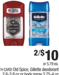 Old Spice, Gillette Deodorant