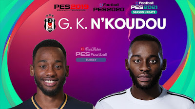 PES 2021 Faces Georges-Kévin N'Koudou by PES Football Turkey