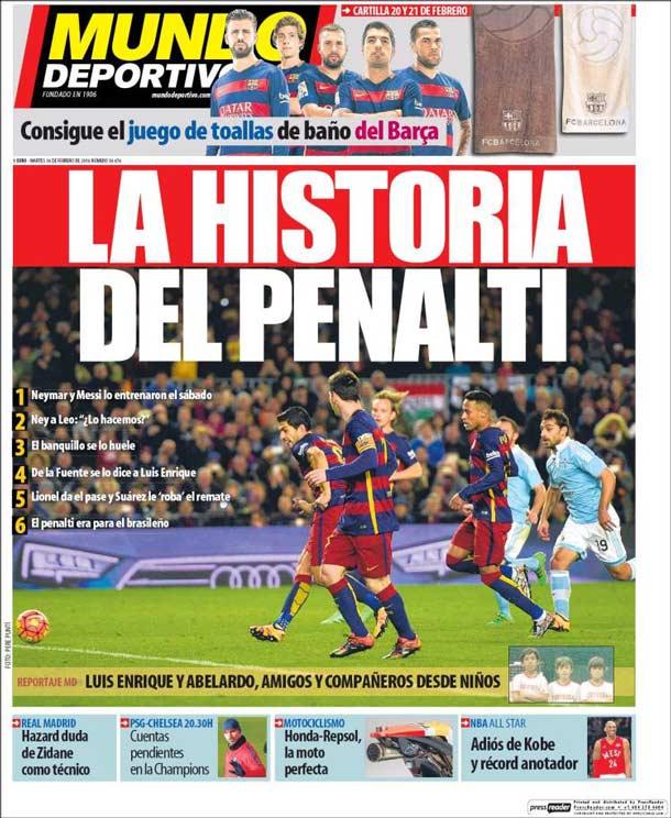 Portada del periódico Mundo Deportivo, martes 16 de febrero de 2016