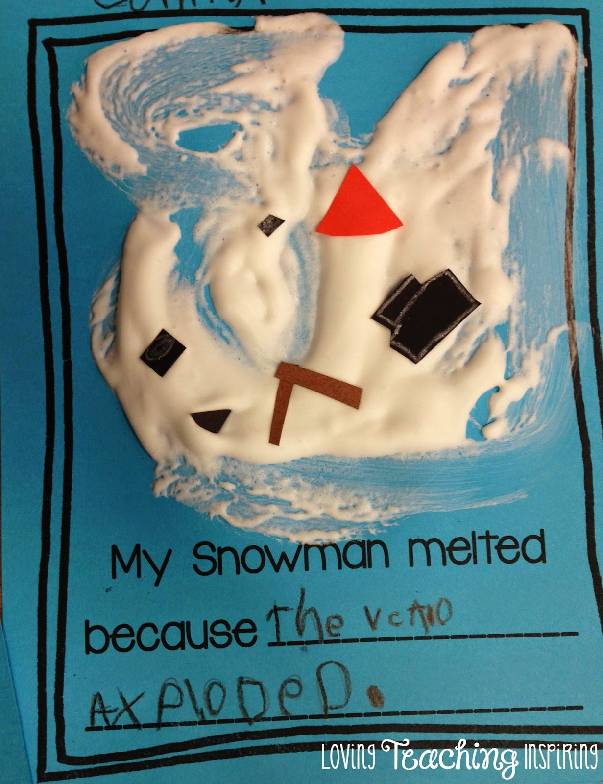 The Primary Pack Sneezy The Snowman Puffy Craftivity