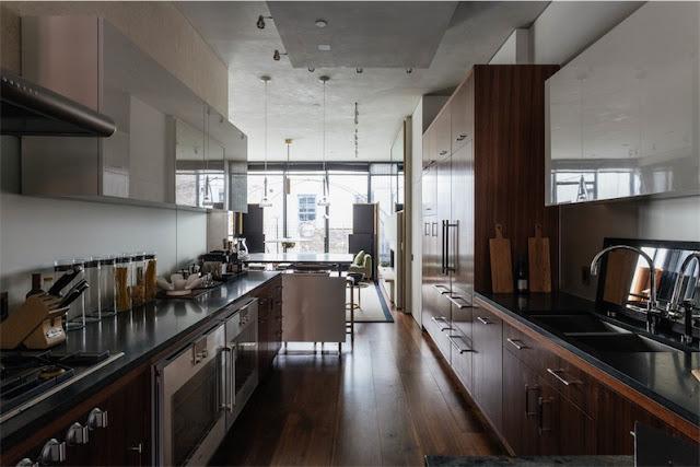 cocina casa masculina en el West Village de Nueva York