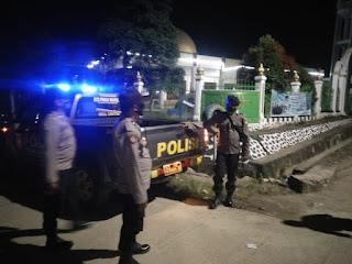 Guna Ciptakan Kamtibmas yang Kondusif, Personel Polsek Malua Laksanakan Patroli Blue Light