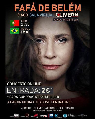 Concerto  Fafá de Belém em Portugal - Fátima 2020- 09/08