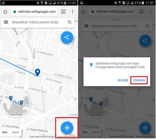 Cara Menemukan Arah Kiblat Menggunakan Qibla Finder di Android