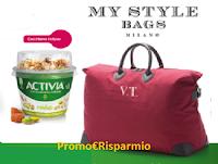 Logo Con Activia vinci My Style Bags borsone personalizzato con le tue iniziali