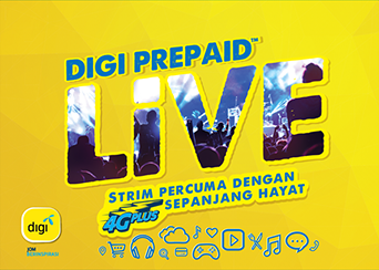 Digi Prepaid Live Free Video & Music Streaming