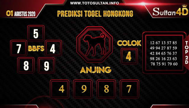PREDIKSI TOGEL HONGKONG SULTAN4D 01 AGUSTUS 2020
