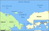 The Beaufort and Chukchi seas are zones of the Arctic Ocean off the coast of northern Alaska. (Credit: Mohonu/Wikipedia, CC BY-SA) Click to Enlarge.