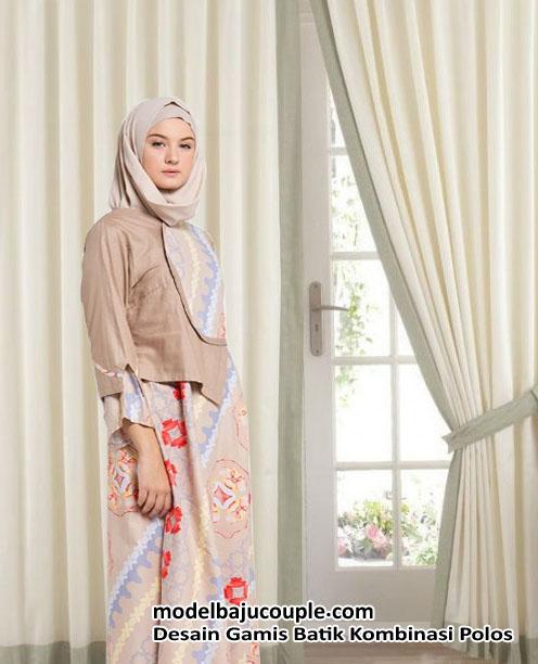 32 Vogue Gamis Batik Pesta Kombinasi Satin Sifon Brokat Dan