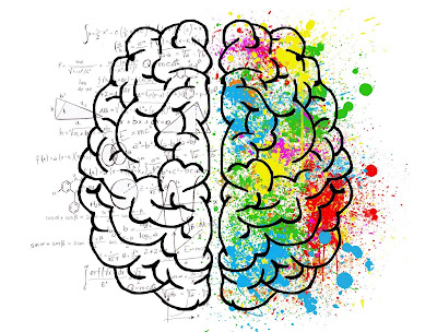 left or right brain is  dominant hemisphere in human body. Usually the language function is taken care by the left hemisphere and the creative work by the right hemisphere