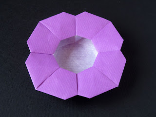 Origami Scatola a fiore, variante 1 - Flower Box, variant 1, Francesco Guarnieri