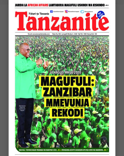 Habari Kubwa Zilizopo Katika Magazeti ya Tanzania Leo Jumapili Octoka 4, 2020