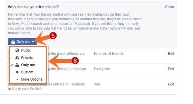 Facebook Friends List को Hide कैंसे करें दूसरों के लिए