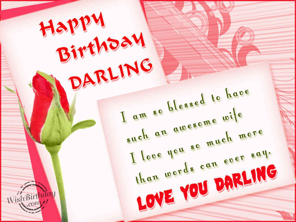 Best Images for Happy Birthday Wishes to Wife from Husband – Happy Birthday Greeting for Wife