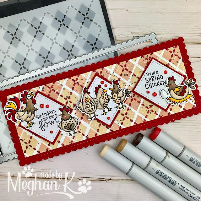 Spring Chicken Card by Guest Designer Meghan Kennihan | Moo Stamp Set by Newton's Nook Designs #newtonsnook #handmade
