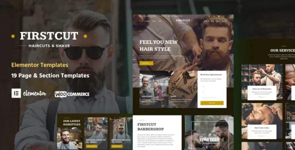 Best Barbershop & Men's Grooming Elementor Template Kit