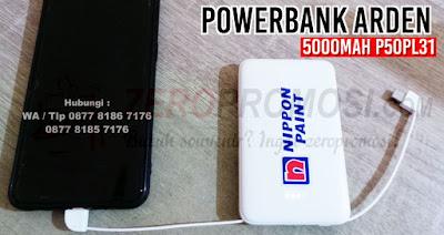 Powerbank Arden 5000mAh P50PL31 untuk souvenir, Jual Powerbank Arden 5000mAh P50PL31 - Kota Tangerang, Jual Power Bank Promosi - Souvenir PowerBank Arden, [ARDEN] POWERBANK MARS 5000mAh – P50PL31, Souvenir Powerbank Promosi Jakarta Bisa Custom – ARDEN.