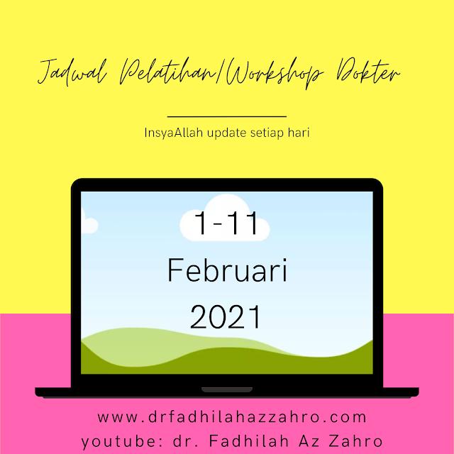 Jadwal Pelatihan/Workshop Dokter 1-10 Februari 2021