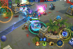 Asik Bermain Game Mobile Legends: Bang Bang