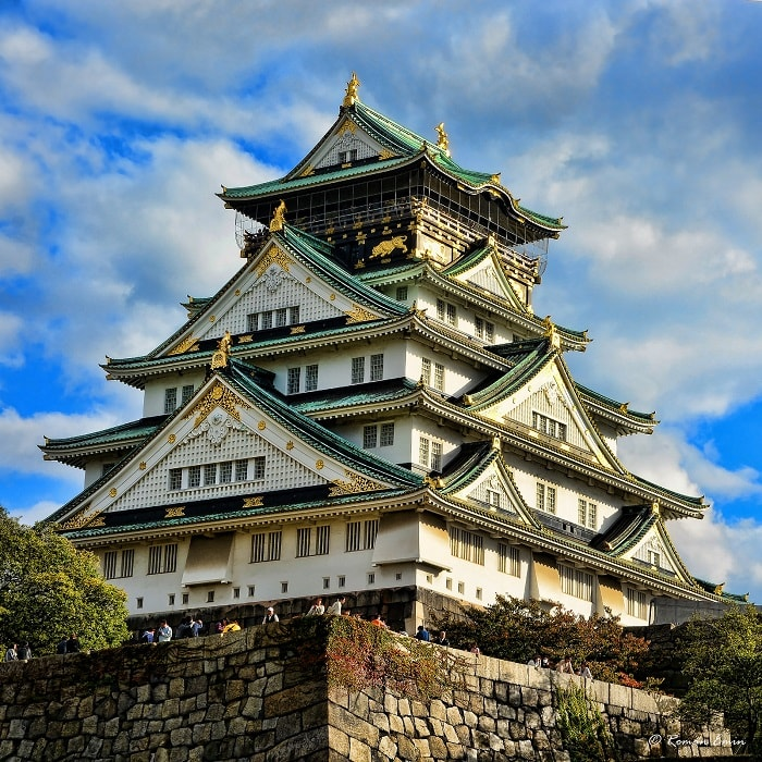 Osaka Castle at Osaka Prefecture, Japan