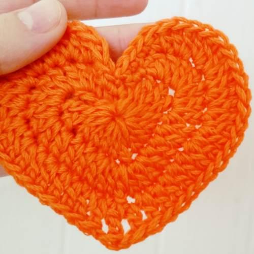 corazón mediano crochet ganchillo tutorial paso a paso