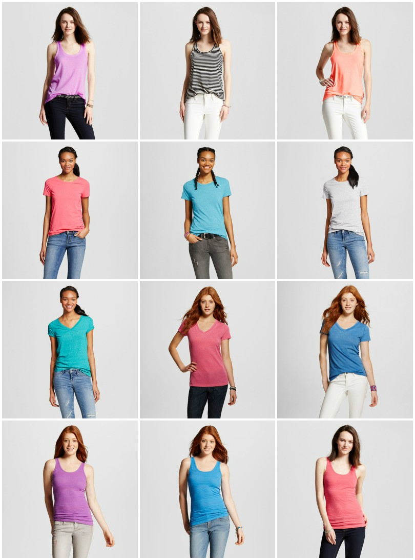 Mossimo Tanks Tops Mossimo Solid Crew Tops Mossimo Vee T-Shirt Mossimo Jacquard Long & Lean Tank - I love the textured fabric, I have one in pink!