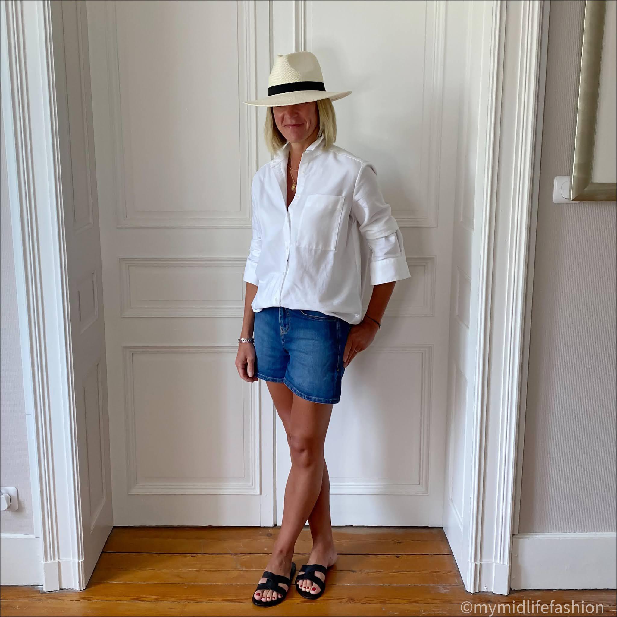 my midlife fashion, Baukjen Lucy shirt, Baukjen Tyra organic short