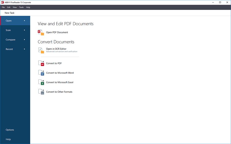 ABBYY FineReader Main Interface Screenshot