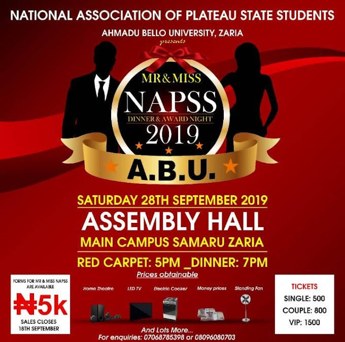 Miss NAPSS CONTEST 2019 [ABU ZARIA CHAPTER]