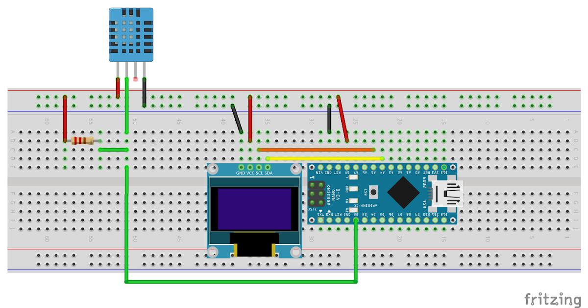 Arduino er temperature humidity monitor using