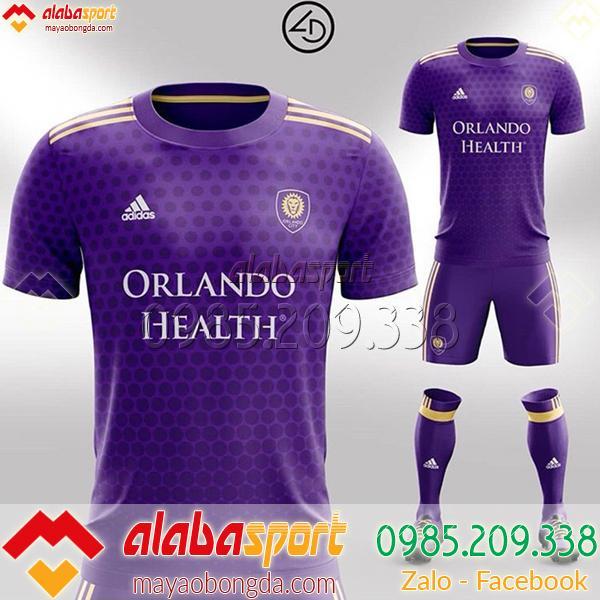 Áo bóng đá màu tím tự thiết kế chất